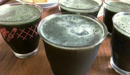 冷凍ブルーベリーでシンプルに、うまい青汁スムージーごくり。