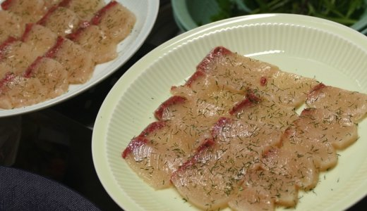 刺身でも焼魚でも塩とディルウィードがあればなんとかなる。