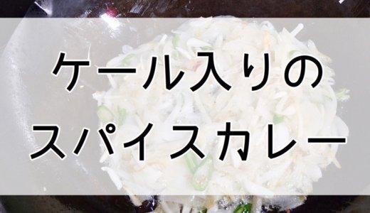 サラダ用ケール、なのに加熱してスパイスカレーに使ってみた。
